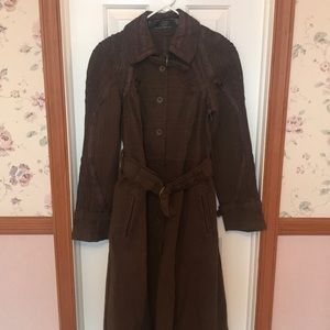 Free People New Romantics Brown Trench Coat